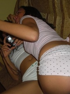 Slutty drunken teen having fun with her girlfriend