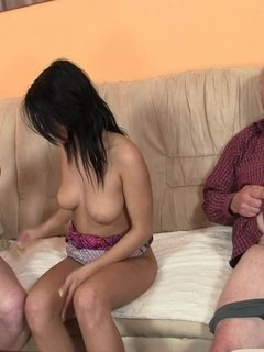 Mom eats her young pussy sweetly