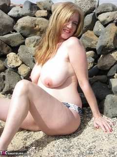 A hot summers day on the beach. The perfect excuse to get naked