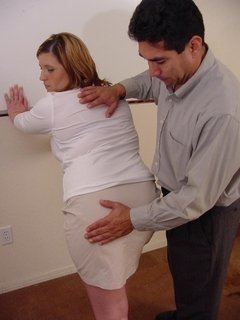 Hot mature lady gets punished and spanked hard