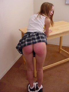 Naughty teen gets punished by her professor by taking heaps of hand spanking in her peach bum