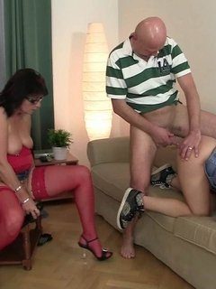 His girlfriend is hot for his dad's cock
